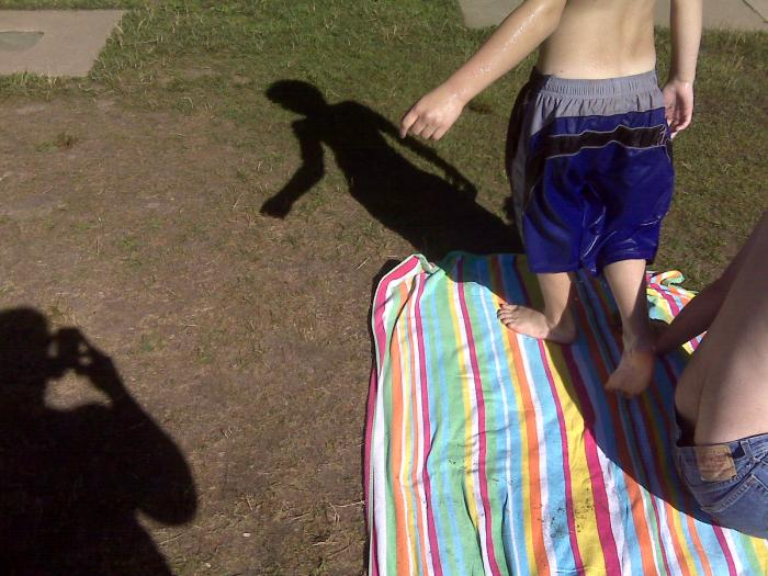 """""""Hey, take a picture of our shadows."""""""
