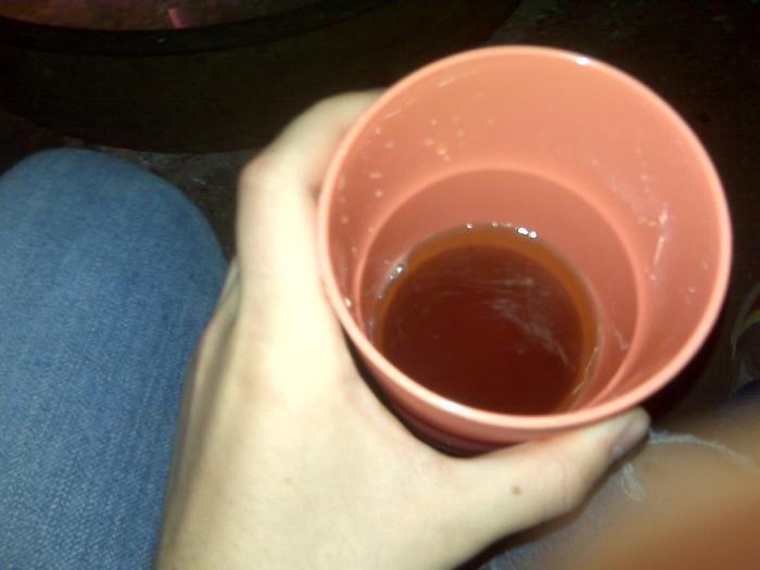 Doesn't it kinda look like beer? It's Lipton instant tea.