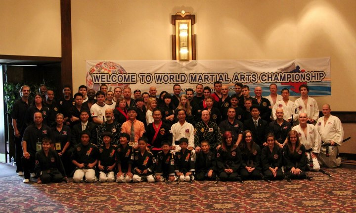 Hoshinkido team with many grand masters and hapkido students from around the world at the 2012 world martial arts championship in Battle creek, Mi, USA